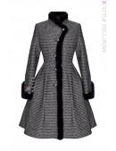 Винтажное зимнее пальто из твида рогожки Х5056 (115056) - foto