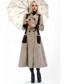 Винтажное пальто в полоску X4030 (114030) - foto