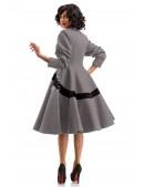Винтажное демисезонное пальто из натуральной шерсти (114044) - оригинальная одежда, 2