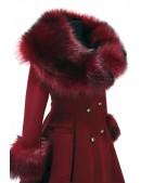 Зимнее шерстяное пальто с мехом X5073 (115073) - материал, 6