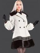 Кашемировое пальто с кружевом и мехом (115010) - цена, 4