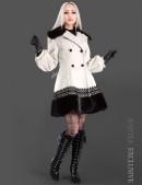 Кашемировое пальто с кружевом и мехом (115010) - foto