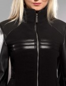 Демисезонное пальто с отделкой из кожи X-Style (114027) - цена, 4
