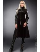 Демисезонное пальто с отделкой из кожи X-Style (114027) - foto