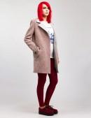 Демисезонное твидовое пальто X035 (114035) - 4, 10