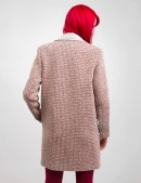 Демисезонное твидовое пальто X035 (114035) - цена, 4