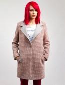 Демисезонное твидовое пальто X035 (114035) - foto