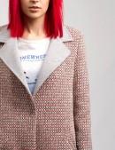 Демисезонное твидовое пальто X035 (114035) - материал, 6