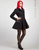 Двубортное расклешенное пальто X-038 (114038) - foto