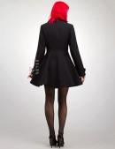 Двубортное расклешенное пальто X-038 (114038) - материал, 6