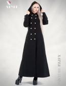 Длинное пальто с капюшоном X-Style (115011) - foto