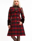 Зимнее женское пальто с меховой шалью X5058 (115058) - цена, 4