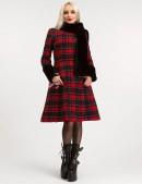 Зимнее женское пальто с меховой шалью X5058 (115058) - оригинальная одежда, 2