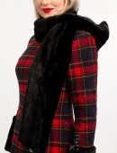 Зимнее женское пальто с меховой шалью X5058 (115058) - 3, 8
