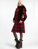 Зимнее женское пальто с меховой шалью X5058 (115058) - foto