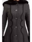 Длинное женское пальто из натуральной шерсти X-Style (115061) - 3, 8