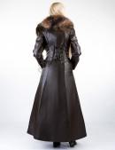 Длинное пальто с меховым воротником X-Style (115024) - оригинальная одежда, 2