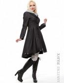 Асимметричное зимнее пальто женское (115039) - 3, 8