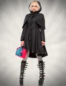 Асимметричное зимнее пальто женское (115039) - foto