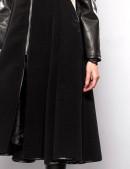 Демисезонное пальто с отделкой из кожи X-Style (114027) - 3, 8