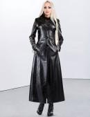 Длинное зимнее пальто с корсетом и вышивкой (115025) - оригинальная одежда, 2