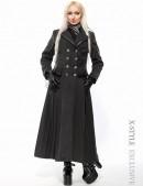 Длинное двубортное пальто женское X-029 (115029) - foto