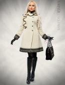 Кашемировое зимнее пальто с кружевом (115031) - foto
