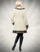 Кашемировое зимнее пальто с кружевом (115031) - материал, 6