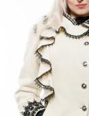 Кашемировое зимнее пальто с кружевом (115031) - 3, 8