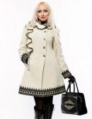 Кашемировое зимнее пальто с кружевом (115031) - оригинальная одежда, 2