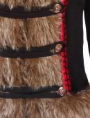 Короткое пальто с мехом и вышивкой X-Style (115051) - материал, 6