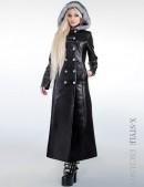 Зимнее кожаное пальто с мехом X-Style (115022) - foto