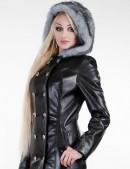Зимнее кожаное пальто с мехом X-Style (115022) - оригинальная одежда, 2