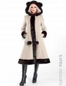 Пальто зимнее с меховыми ушками (115015-2) - foto
