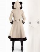 Пальто зимнее с меховыми ушками (115015-2) - цена, 4
