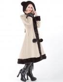 Пальто зимнее с меховыми ушками (115015-2) - оригинальная одежда, 2