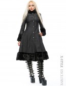 Расклешенное пальто с мехом X-Style (115033) - foto