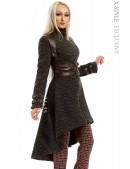 Твидовое пальто с портупеей (114032) - foto