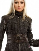Твидовое пальто с портупеей (114032) - материал, 6