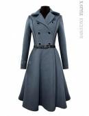 Винтажное пальто из натуральной шерсти (115055) - foto