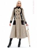 Винтажное пальто в полоску X4030 (114030) - 3, 8