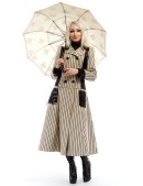 Винтажное пальто в полоску X4030 (114030) - материал, 6