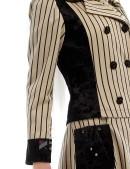 Винтажное пальто в полоску X4030 (114030) - цена, 4
