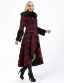 Асимметричное пальто с мехом X-Style (115053) - оригинальная одежда, 2