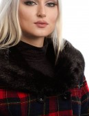 Асимметричное пальто с мехом X-Style (115053) - цена, 4