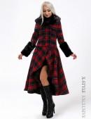 Асимметричное пальто с мехом X-Style (115053) - foto