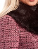 Винтажное пальто с корсетом и мехом X-STYLE (115044) - 3, 8