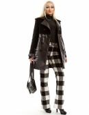 Зимнее женское пальто из кашемира и кожи X-Style (115043) - foto