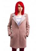 Демисезонное твидовое пальто X035 (114035) - оригинальная одежда, 2