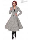 Винтажное женское пальто с шалевым воротником Belsira (114046) - foto